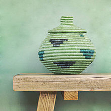 Dekorácie - Sisalová dóza zelená - 11183051_