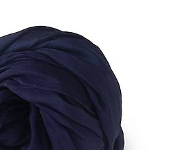"""Šály - """"deep blue"""" tmavo-modrý  hodvábny maxi šál (pléd) skladom:-) - 11183592_"""
