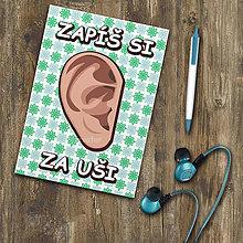 Papiernictvo - Zápisníček - Zapíš si za uši  (3) - 11183793_
