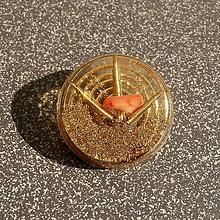 Dekorácie - *Orgonitové těžítko s Růžovým Korálem* - 11189088_