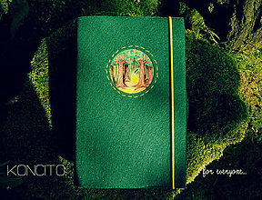 Papiernictvo - Kožuch/obal na knihu: l e s (Zelená) - 11188673_
