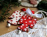 Anjel cinkavý, červený, vianočná ozdoba