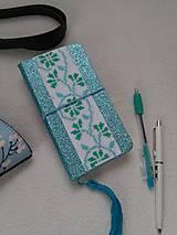 Papiernictvo - Ľadová kráska (ručne vyšívaný zápisník) - 11187214_
