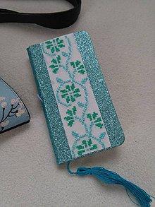 Papiernictvo - Ľadová kráska (ručne vyšívaný zápisník) - 11187213_
