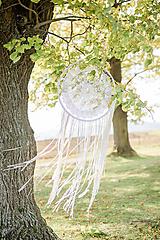 """Dekorácie - svadobný """"boho"""" lapač snov - 11186187_"""