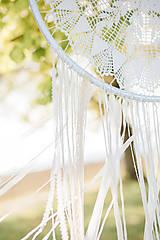 """Dekorácie - svadobný """"boho"""" lapač snov - 11186189_"""