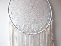 """Dekorácie - svadobný """"boho"""" lapač snov - 11186190_"""