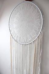 """Dekorácie - svadobný """"boho"""" lapač snov - 11186198_"""