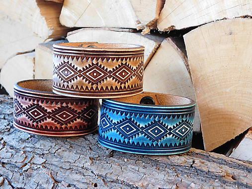 Kožený náramok - Aztec