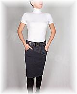 Sukne - Sukně s kapsami vz.411(krásně hřejivá,více barev) - 11188297_