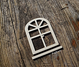 Materiál ručne robený - výrez - dvere (6*5cm) - 11187106_
