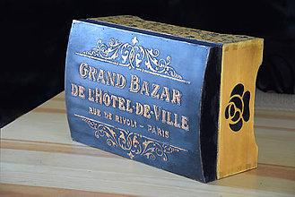 Krabičky - Drevená truhlica na poklady, fotky a iné - 11187397_