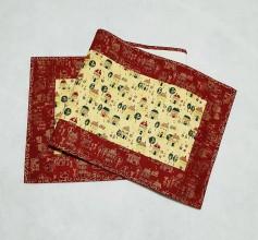 Úžitkový textil - Vianočné domčeky - obrus - 11176263_
