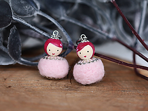 Náušnice - Náušnice - Cute Dolls mini - Princessa - 11186376_