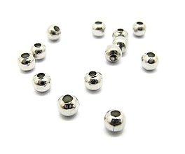 Korálky - Korálka 3mm, prievlak 1mm /M4501/ - nerez.oceľ 304 - 11185986_