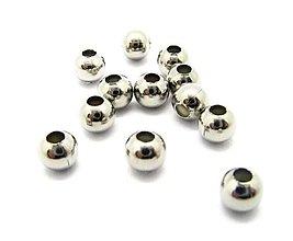 Korálky - Korálka 5mm, prievlak 2mm /M4503/ - nerez.oceľ 304 - 11186043_