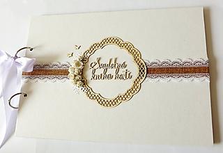 Papiernictvo - svadobná kniha hostí - 11185958_