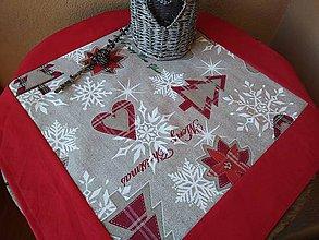 Úžitkový textil - Obrúsok vianočný - 11187895_