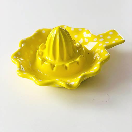 Odšťavovač na citrusy v žltom prevedení