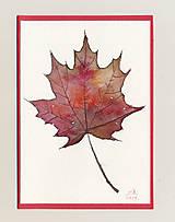 Papiernictvo - Pohľadnica - Červený list - 11188639_