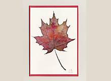 Papiernictvo - Pohľadnica - Červený list - 11188640_