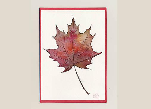 Pohľadnica - Červený list
