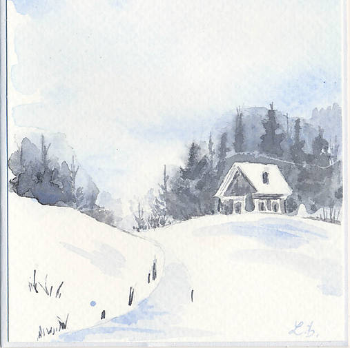 Pohľadnica - Zimná krajinka 4