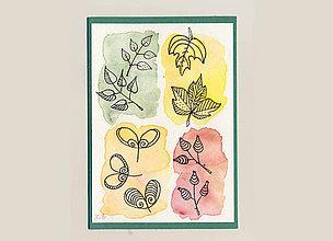 Papiernictvo - Jesenná pohľadnica - 11188592_