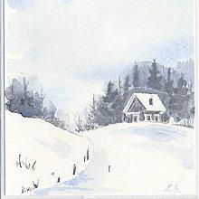Papiernictvo - Pohľadnica - Zimná krajinka 4 - 11188682_