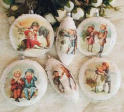 Dekorácie - Vianočné ozdoby - Deti v zime - 11187651_