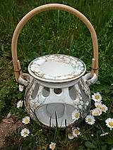 Svietidlá a sviečky - Aromalampa Buclatá ratan - 11185740_