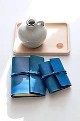 Papiernictvo - Kožený zápisník TURQUOISE A5 a A6 - 11188475_