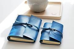 Papiernictvo - Kožený zápisník TURQUOISE A5 a A6 - 11188499_