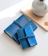 Papiernictvo - Kožený zápisník TURQUOISE A5 a A6 - 11188508_