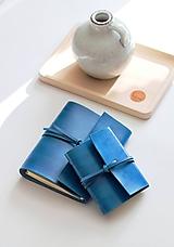 Papiernictvo - Kožený zápisník TURQUOISE A5 a A6 - 11188516_