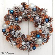 Dekorácie - Vianočný veniec ľadový - 11188095_