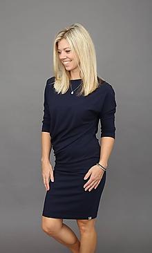 Šaty - Asymetrické šaty tmavě modrá - 11186348_