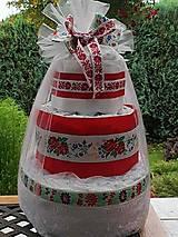 Detské doplnky - Plienková torta Folk - 11186831_