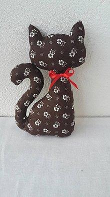 Dekorácie - Mačka - čokoládo hnedá s darčekom - 11187985_
