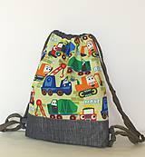 Detský ruksak, batoh,vak... škôlkársky   veľ.S (Bagríky na zelenej)