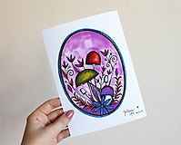 Grafika - Hríboše fialové - 11187526_