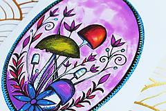 Grafika - Hríboše fialové - 11187529_