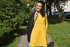 """Tehotenské/Na dojčenie - """"A""""-čkové šaty na dojčenie - Horčicová - DLHÝ RUKÁV - 11186302_"""