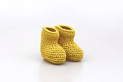 Topánočky - Horčicové papučky EXTRA FINE - 11187264_