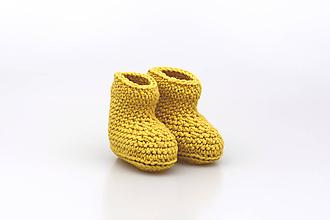Detské topánky - Horčicové papučky EXTRA FINE - 11187264_