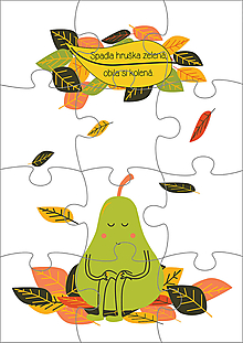 Hračky - Puzzle - Hruška - 11186644_
