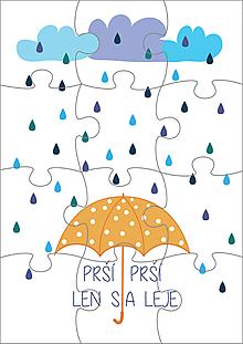 Hračky - Puzzle - Prší, prší - 11186659_