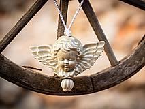 Dekorácie - Anděl šedý - 11185897_