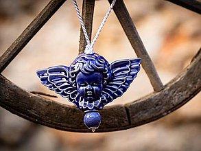 Dekorácie - Anděl královská modř - 11185889_