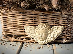 Dekorácie - Reliéfní anděl šedý - 11185915_